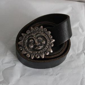 Leather Sun Belt Made in Italy The Limited